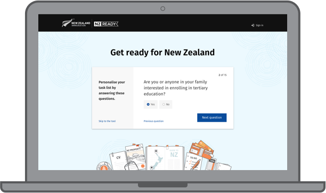 Plan your move to new zealand nz ready start by answering a few simple questions about yourself this takes less than a minute solutioingenieria Choice Image